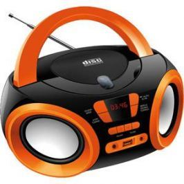 Магнитола Hyundai H-PCD120 черный/оранжевый