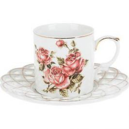 Кофейный набор 4 предмета Best Home Porcelain Рубиновые розы (1210111)