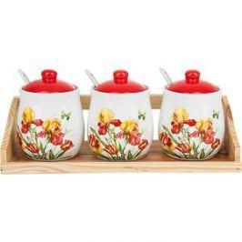 Набор банок для сыпучих продуктов 3 штуки Polystar Collection Касатик (L2520656)