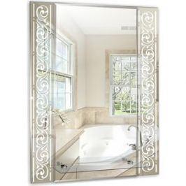 Зеркало Mixline Сахара 540х680 полка/фацет/пескоструйный рисунок (4620001980918)