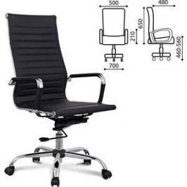 Кресло офисное Brabix Energy EX-509 рециклированная кожа хром черное 530862