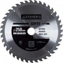 Диск пильный Stayer 250х32мм 40зубьев Opti-Line (3681-250-32-40)