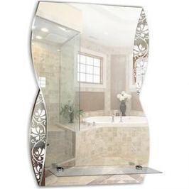 Зеркало Mixline Аква 395х600 с полкой/пескоструйный рисунок (4620001983902)
