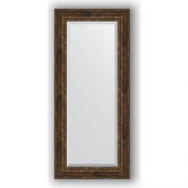 Зеркало с фацетом в багетной раме поворотное Evoform Exclusive 72x162 см, состаренное дерево с орнаментом 120 мм (BY 3586)