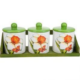 Набор банок для сыпучих продуктов 3 штуки Polystar Collection Нарцисс (L2520319)