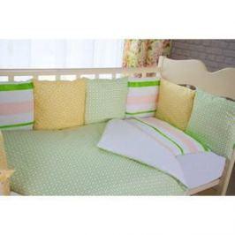 Комплект в кроватку с бортиками-подушками By Twinz 6 пр. Амелия