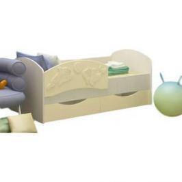 Кровать Регион 58 Дельфин 3 ваниль/белфор МДФ 80x160