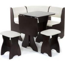 Набор мебели для кухни Бител Тюльпан мини - однотонный (венге, Борнео крем, венге)