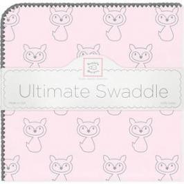 Пеленка фланель для новорожденного SwaddleDesigns Ultimate Gray Fox Pstl Pink