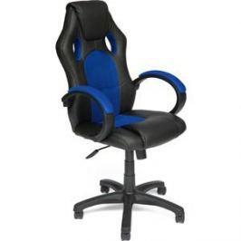 Кресло TetChair RACER GT кож/зам/ткань черный/синий 36-6/10