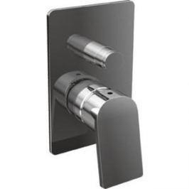 Смеситель для ванны Cezares Trend встраиваемый с переключателем, хром, ручки хром (TREND-VDIM-01-Cr)