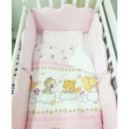 Комплект в кроватку By Twinz 6 пр. Облачка КЛАССИКА розовый