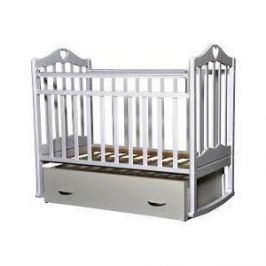 Кровать детская Антел Каролина (4), маятник поперечного качания, закрытый ящик белый Каролина-4 белый