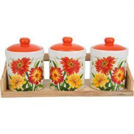 Набор банок для сыпучих продуктов 3 штуки Polystar Collection Золотая Серена (L2520641)