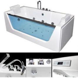 Акриловая ванна гидромассажная Grossman 170x80x60 (GR-17080)