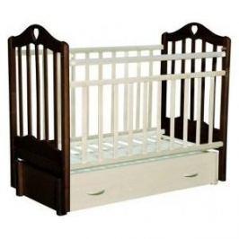 Кровать детская Антел Каролина (6), маятник (продольного качания), закрытый ящик венге-слоновая кость Каролина-6 венге-сл.кость