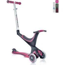 Самокат 3-х колесный Y-Scoo RT GLOBBER My free Seat 5 in 1 pink с подножками и блокировкой колес