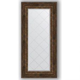 Зеркало с гравировкой поворотное Evoform Exclusive-G 62x132 см, в багетной раме - состаренное дерево с орнаментом 120 мм (BY 4086)