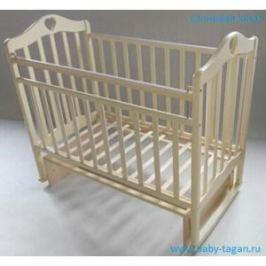 Кровать детская Антел Каролина (3) автоспуск-кнопка, маятник (поперечного качания), качалка слоновая кос Каролина-3 слоновая кость