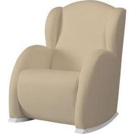 Кресло-качалка Micuna Wing/Flor white/beige искусственная кожа