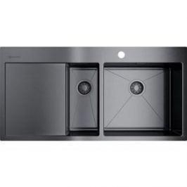 Кухонная мойка Omoikiri Akisame 100-2-GM-R, 1000x510, вороненая сталь (4973104)