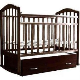 Кровать детская Антел Алита (4) а/с, поперечного качания, закрытый ящик, махагон Алита-4 махагон