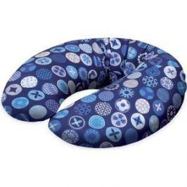 Подушка для кормления Ceba Baby Mini (Себа Беби Мини) Circles blue трикотаж W-702-071-162