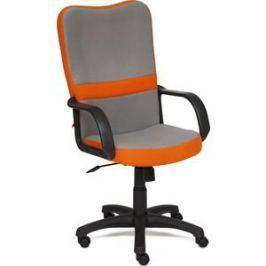 Кресло TetChair СН757 ткань серый/оранжевый С27/С23