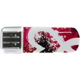 Флеш накопитель Verbatim 8GB Mini Graffiti Edition USB 2.0 Красный (98165)