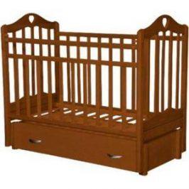 Кровать детская Антел Каролина (6), маятник (продольного качания), закрытый ящик орех Каролина-6 орех