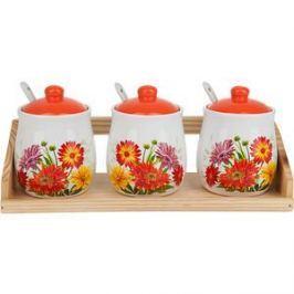 Набор банок для сыпучих продуктов 3 штуки Polystar Collection Золотая Серена (L2520630)