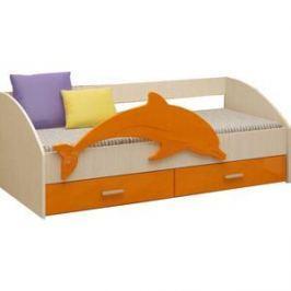 Кровать Регион 58 Дельфин 4 оранжевый МДФ 80x160
