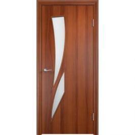 Дверь VERDA Тип С-2(о) остекленная 2000х800 МДФ финиш-пленка Итальянский орех