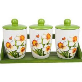 Набор банок для сыпучих продуктов 3 штуки Polystar Collection Нарцисс (L2520322)