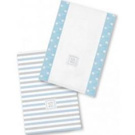 Полотенчики SwaddleDesigns Baby Burpie Set Blue Simple Stripes (SD-621PB)