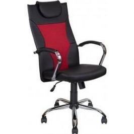 Кресло Алвест Кресло AV 134 СН (04) МК экокожа/экокожа перф/сетка однсл 223/253/474 черная/черная перф/ярко-красная