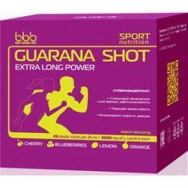 Энергетический напиток BBB Guarana Shots (лимон, 20 ампул, 1500 мг в ампуле)