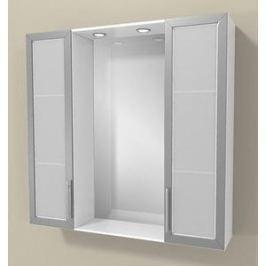 Зеркало Меркана Виттория 82 см, 2 шкафа по бокам, свет, розетка, выключатель (27666)