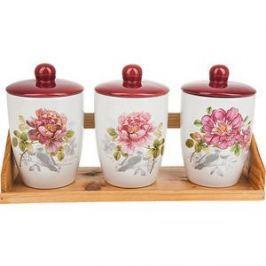 Набор банок для сыпучих продуктов 3 штуки Polystar Collection Райский сад (L2520394)