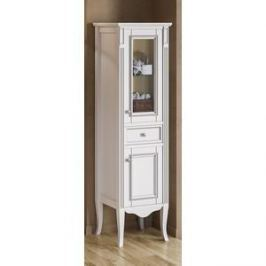 Пенал Timo Аура 2 дверцы, 1 ящик, белый с серебром (Au.p-M-VR (B-S))