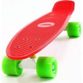 Скейтборд Hubster Cruiser 22 красный с зелеными колесами 9286П