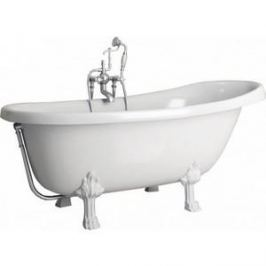 Ванна из литого мрамора Фэма Стиль Салерно 170х83 см лапы сакарская медь
