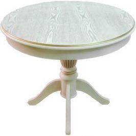 Стол обеденный Мебелик Моро 03 слоновая кость/патина 90/120x90