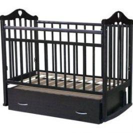 Кровать детская Антел Каролина (4), маятник поперечного качания, закрытый ящик венге Каролина-4 венге