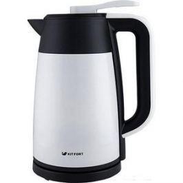 Чайник электрический KITFORT КТ-620-1 белый/черный