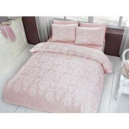Комплект постельного белья TAC 2-х сп, сатин, Esther V53-pudra, розовый (4044-67724)