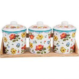 Набор банок для сыпучих продуктов 3 штуки Nouvelle Цветочная поэма (660108)