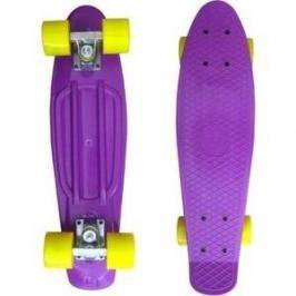 Скейтборд Ecobalance Ecobalance фиолетовый с желтыми колесами ОВ-2166