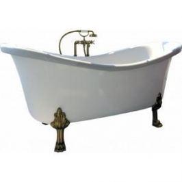 Ванна из литого мрамора Фэма Стиль Габриэлла 189х87 см лапы хром