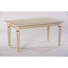 Стол обеденный Мебелик Васко 03 слоновая кость/патина 150/200x80
